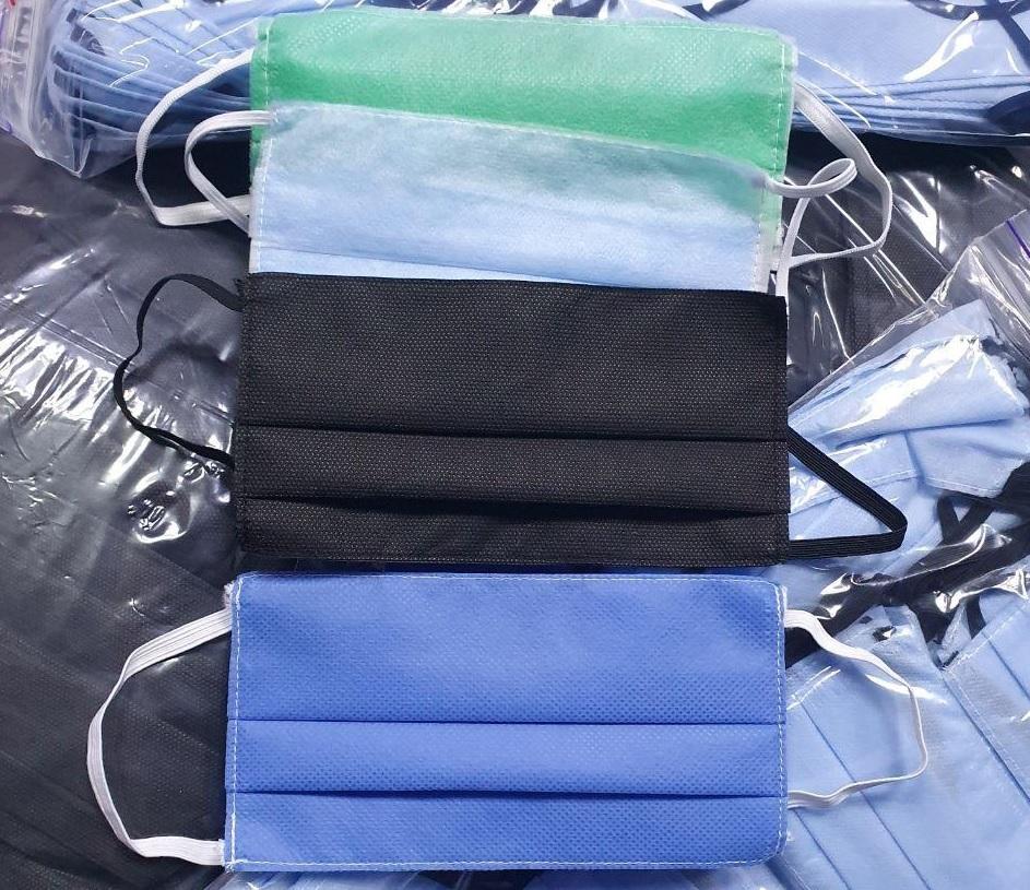 Маски сині чорні голубі зелені